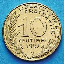 Франция 10 сантимов 1997 год.