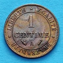 Франция 1 сантим 1895 год. Монетный двор Париж.