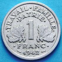 Франция 1 франк 1942-1944 год. KM# 902