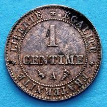 Франция 1 сантим 1897 год. Монетный двор Париж.