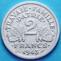Франция 2 франка 1943 год.