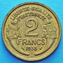 Франция 2 франка 1931-1941 год.