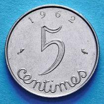 Франция 5 сантимов 1961-1964 год.