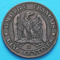 Франция 5 сантимов 1854 год. Монетный двор Лион.