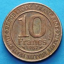 Франция 10 франков 1987 год. Тысячелетие династии Капетингов.