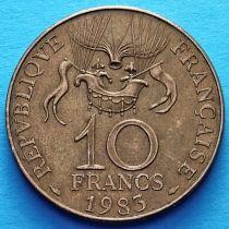Франция 10 франков 1983 год. Воздушный шар.