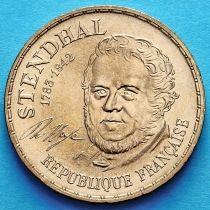 Франция 10 франков 1983 год. Стендаль. UNC.