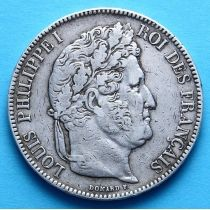 Франция 5 франков 1843 год. Серебро
