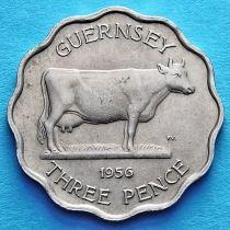 Гернси 3 пенса 1956 год.