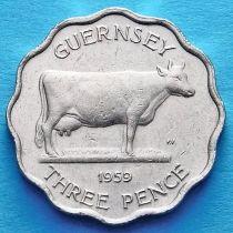Гернси 3 пенса 1959 год.