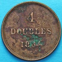 Гернси 4 дубля 1864 год.