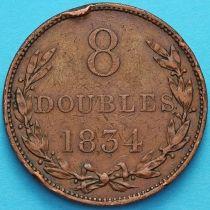 Гернси 8 дублей 1834 год.