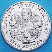 Гернси 5 фунтов 2001 год. Британские монархи 19 века.