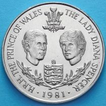 Гернси 25 пенсов 1981 год. Королевская свадьба.