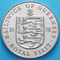Гернси 25 пенсов 1978 год. Королевский визит.