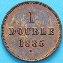 Гернси 1 дубль 1885 год.