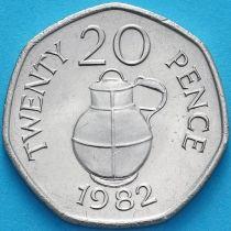 Гернси 20 пенсов 1982 год. Молочник.