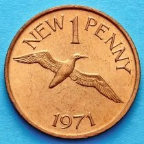 Лот 10 монет. Гернси 1 пенни 1971 год.