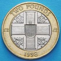 Гернси 2 фунта 1998 год.