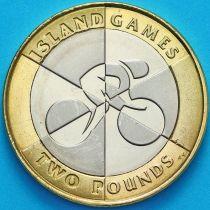 Гибралтар 2 фунта 2019 год. Островные игры. АА