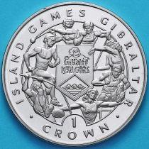 Гибралтар 1 крона 1995 год. VI Островные игры. 7 спортсменов.