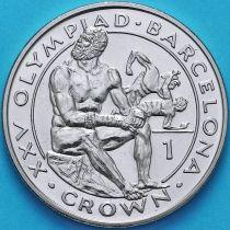 Гибралтар 1 крона 1991 год. Олимпиада. Бокс.