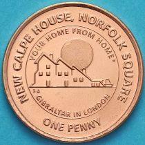 Гибралтар 1 пенни 2018 год. Дом Гибралтара в Лондоне.