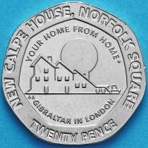 Гибралтар 20 пенсов 2018 год. Новый дом Гибралтара в Лондоне.