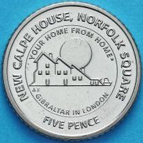 Гибралтар 5 пенсов 2018 год. Новый дом Гибралтара в Лондоне.
