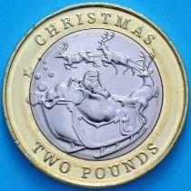 Гибралтар 2 фунта 2020 год. Рождество.