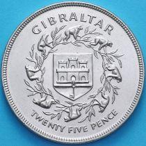 Гибралтар 25 новых пенсов 1977 год. 25 лет правлению Королевы Елизаветы II