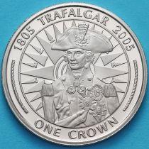 Гибралтар 1 крона 2005 год. Горацио Нельсон.