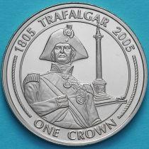 Гибралтар 1 крона 2005 год. Колонна Нельсона в Лондоне.