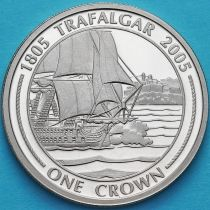 Гибралтар 1 крона 2005 год. Парусник HMS Victory.
