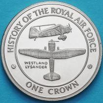 Гибралтар 1 крона 2008 год. Уэстленд Лизандер