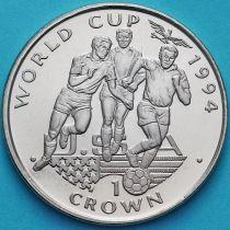 Гибралтар 1 крона 1994 год. ЧМ по футболу. Три игрока.