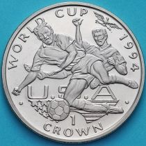 Гибралтар 1 крона 1994 год. ЧМ по футболу. Борьба за мяч.