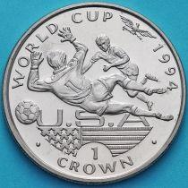 Гибралтар 1 крона 1994 год. ЧМ по футболу. Вратарь и нападающий.