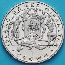 Гибралтар 1 крона 1995 год. VI Островные игры. 6 спортсменов.