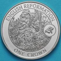 Гибралтар 1 крона 2009 год. Английская Реформация