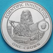 Гибралтар 1 крона 2009 год. Научные открытия. Ньютон.