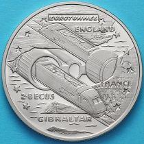 Гибралтар 2.8 экю 1993 год. Евротоннель.