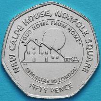 Гибралтар 50 пенсов 2018 год. Дом Гибралтара в Лондоне.