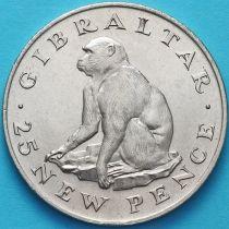 Гибралтар 25 новых пенсов 1971 год. Макака Магот.