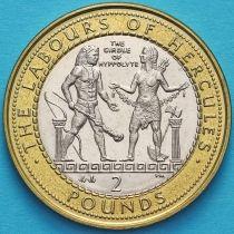 Гибралтар 2 фунта 2000 год. Пояс Ипполиты