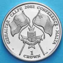 Гибралтар 1 крона 2002 год. Конференция на Мальте.