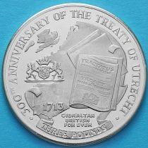 Гибралтар 3 фунта 2013 год. Утрехтский договор.