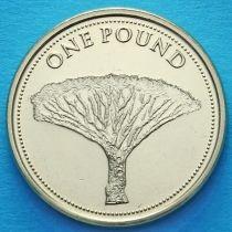 Гибралтар 1 фунт 2016 год. Драконово дерево.