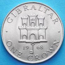 Гибралтар 1 крона 1968 год.