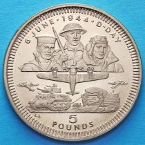 Гибралтар 5 фунтов 1994 год. День D.